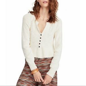 Free People | V-Neck Pullover Sweater Off White M